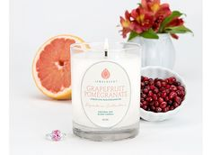 Signature Grapefruit Pomegranate Candle. So awesome because you get to choose your preferred ring size