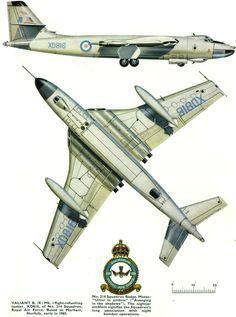 Vickers Valiant B(K).Mk.1 S/n XD816,  148 Sqn, RAF. Military Jets, Military Aircraft, Vickers Valiant, Handley Page Victor, Westland Whirlwind, V Force, Nuclear Force, Avro Vulcan, British Armed Forces