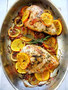 I know I'm posting this on Meatless Monday, but save it for another day, a midweek meal or even a special occasion, it's that good, it's simple to make and the bright colored citrus makes it look eleg