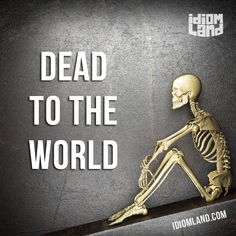 """""""Dead to the world"""" means """"to be sleeping very deeply and soundly"""". Example: She had been awake for almost 24 hours and when she fell asleep, she was dead to the world, even when the telephone rang. #idiom #idioms #slang #saying #sayings #phrase #phrases #expression #expressions #english #englishlanguage #learnenglish #studyenglish #language #vocabulary #efl #esl #tesl #tefl #toefl #ielts #toeic #sleep"""