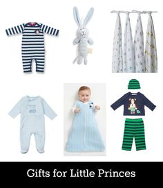 Shopping for a prince. Great baby gifts for boys. We love spotting royal baby trends.
