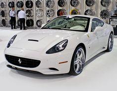 #Ferrari looking sharp on #Chrome wheels. #love it?  Repin!! http://www.wheelhero.com/topics/Chrome-Rims-For-Sale