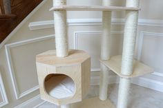 PREMIUM PINUS SYLVESTRIS WOOD CAT TREE (X-LARGE) – Designer Pet Furniture & Accessories