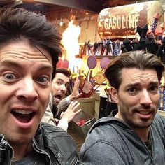 Just a day at #Dollywood with @JD Scott & @Drew Scott!
