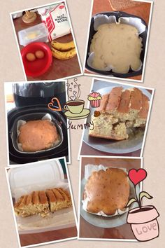 my attempt bake banana walnut cake by philips air fryer