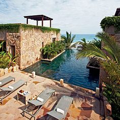 """Mexico, ahhhh yessssss. A tranquil little spot isn't it?  Casona Los Templos """"Imanta is a good reflection of the soul of Mexico,"""" says architect Bob Shemwell. """"It's modern, but at the same time it draws on the history and culture."""""""