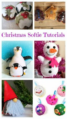 Christmas Sewing Crafts For Kids free-christmas-softie-tutorials Christmas Sewing Projects, Sewing Projects For Kids, Crafts For Kids To Make, Christmas Crafts For Kids, Sewing For Kids, Diy Christmas Gifts, Holiday Crafts, Sewing Crafts, Free Sewing