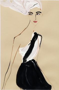 Fashion Illustration by Tanya Ling, 2010, Chanel.