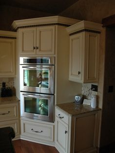 French Country Kitchen Cabinetry With Tinted Cream Lacquer Finish And Chocolate Glaze This Kitchen Features