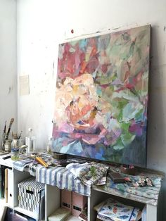 These last few months I have been working on a new collection of canvases in preparation for my next two-person exhibition in my local town in Asturias, Spain. Abstract Geometric Art, Abstract Flowers, Abstract Watercolor, Abstract Canvas, Abstract Landscape, Easy Flower Painting, Flower Painting Canvas, Flower Art, Flower Paintings