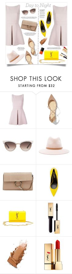 """Day to Night: Rompers"" by anchilly23 ❤ liked on Polyvore featuring Alexander McQueen, Christian Louboutin, Gucci, rag & bone, Chloé, Yves Saint Laurent, NARS Cosmetics and Whiteley"