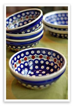 Polish Pottery, bought my first bowls in Italy.