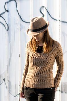 pull camel - modèle Phildar / sweater - pattern from Phildar