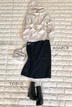 ラクしてキマる!40代が映える週末パーカーコーデ【高見えプチプラファッション #6】 | ファッション誌Marisol(マリソル) ONLINE 40代をもっとキレイに。女っぷり上々! Mode Outfits, Casual Outfits, Fashion Outfits, Fashion Fashion, Trendy Fashion, Winter Fashion, Womens Fashion, Fashion Trends, Long Skirt Fashion