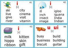 phonics flashcards for kids short i sound Phonics Chart, Phonics Flashcards, Phonics Blends, Phonics Rules, Flashcards For Kids, Phonics Lessons, Phonics Words, Spelling Rules, Phonics Worksheets