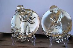 WMF-Art-Nouveau-Silver-Plated-Visiting-Card-Trays-Wall-Plaques