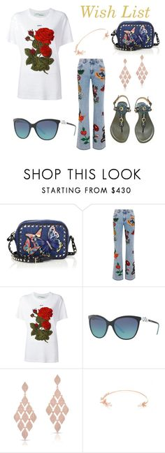 """""""Wish list"""" by shaunna-cross ❤ liked on Polyvore featuring Valentino, Gucci, Off-White, Tiffany & Co., Anne Sisteron and Anabela Chan"""