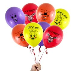 "12 Count Five Nights at Freddy's 12"" Printed Latex Party Balloons FNaF SIZE 12""  #BirthdayChild"