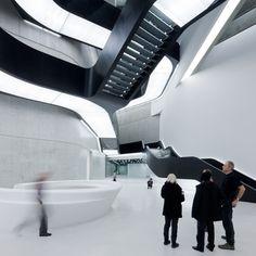 Zaha Hadid architect.  MAXXI_Iwan Baan_Zaha-Hadid_dezeen_468