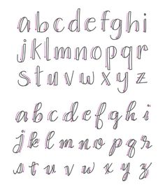 Wrong lowercase calligraphy letters - how to fake calligraphy . - Wrong Lower Case Calligraphy Letters – How To Fake Calligraphy – Simple Tutorial – Wondernote - Fake Calligraphy, Calligraphy Fonts Alphabet, Script Alphabet, Hand Lettering Alphabet, Alphabet Design, Handwriting Fonts, Script Fonts, How To Hand Lettering, Learn To Write Calligraphy