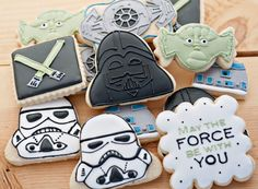 Star Wars custom Sugar Cookies 12 by SugarbeeGoodies on Etsy, $36.00