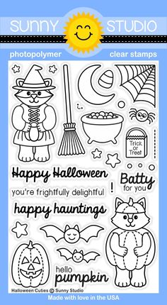 Halloween Cuties 4x6 Clear Stamps - Sunny Studio Stamps