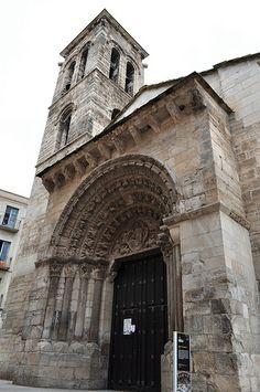 Eglise romane Sainte Marie-Madeleine (XIIe siècle), Tudèle, La Ribera, Communauté Forale de Navarre, Espagne.