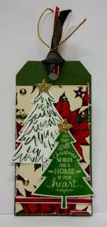 BaRb'n'ShEll Creations-Stampin'up Peaceful Pines-BaRb