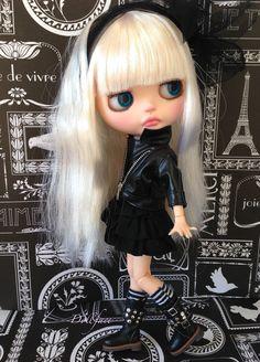 New Custom Blythe OOAK Art Doll by Dollface Beautiful Angie Blue FA | eBay