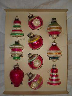 Vintage 1950's Christmas tree ornaments.