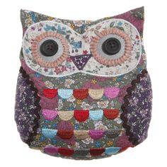 owl pattern | ... The Pea's Knees | Sass & Belle Applique Owl Door Stop - Vintage Floral