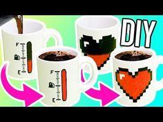HAZ TAZAS QUE CAMBIAN DE COLOR! DIY tazas mágicas para regalar! - YouTube