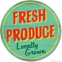 Large Fresh Produce Farm Stand Sign