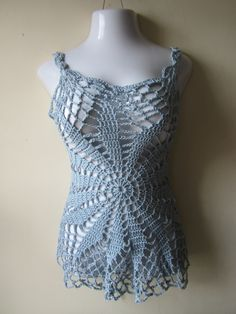 Crochet top festival top beach cover up summer by Elegantcrochets, $76.00