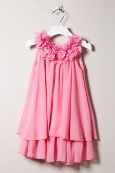 Paulinie Flower Neckline Dress
