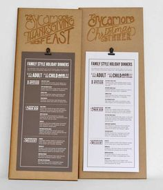 Menu Design Ideas menu ideas design Typographic Retro Restaurant Table Menu Design
