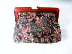 Vintage Cosmetic Purse Embroidered  Hong Kong by EclecticVintager, $6.00
