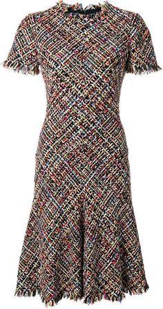 Alexander McQueen tweed A-line dress