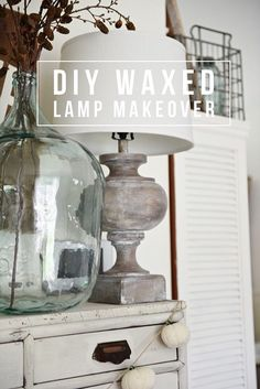 Lamp Makeover An easy way to update your lamps! A must pin for future home decor updates - DIY wax tutorial.An easy way to update your lamps! A must pin for future home decor updates - DIY wax tutorial. Suspension Bar, Suspension Design, Painted Furniture, Diy Furniture, Painted Lamp, Rustic Furniture, Bedroom Furniture, Farmhouse Lamps, Modern Farmhouse
