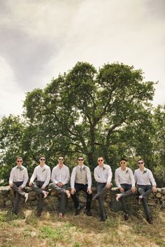 Groomsmen attire-I like this. Only ian having the vest and everyone else more casual