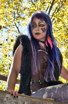 halloween, tribal, makeup