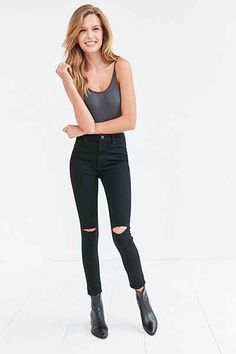 BDG Twig Ripped High-Rise Skinny Jean: Urban Outfitters. - Scared to invest in Mom jeans? Don't worry, high waisted pants are here to stay.