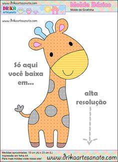 Patchwork moldes Girafinha básica para patch aplique - Drika Artesanato - O seu Blog de Artesanato.