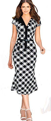 Fiona World Womens Plaid V-neck Ellegant Belted Side Pocket Bodycon Dress Fiona World http://www.amazon.com/dp/B015QA668S/ref=cm_sw_r_pi_dp_ygnfwb07FB1H5