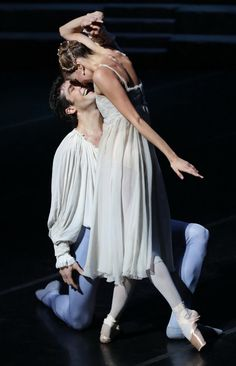 "Alina Somova and Roberto Bolle, ""Romeo and Juliet"" - Two of my favorite dancers because they can act! Difficult to find in dancers."