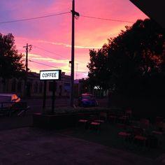 Morning vibes  #sunrise #coffee #coffeesign #roughdiamond #warrnambool #warrnamboolcafe by rough_diamond_coffee