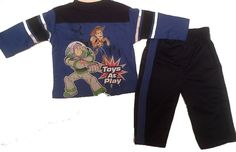 Brand New Disney Pixar Toy Story 3 Boys Blue Pants Set, 12 Months #DisneyPixar