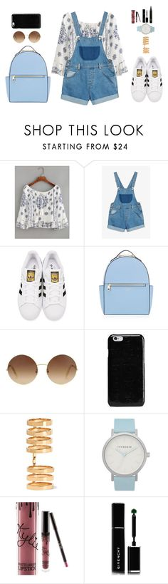 """💖"" by danny-rv ❤ liked on Polyvore featuring beauty, WithChic, Monki, adidas Originals, Henri Bendel, Victoria Beckham, Maison Margiela, Repossi, The Horse and Kylie Cosmetics"