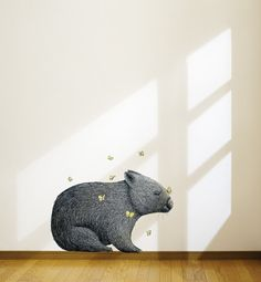 Wombat With Mariposa Removable Wall Sticker   LSB0057CLR-RTL