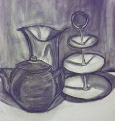 Chalk and Charcoal Still life